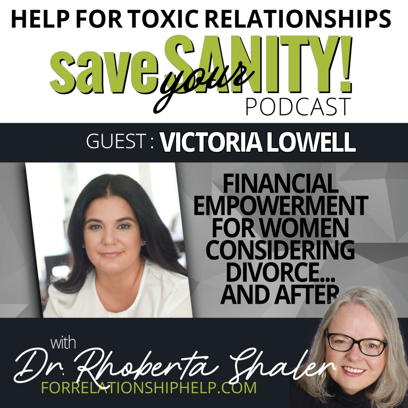 Financial Empowerment For Women Considering Divorce...And After   Guest: Victoria Lowell