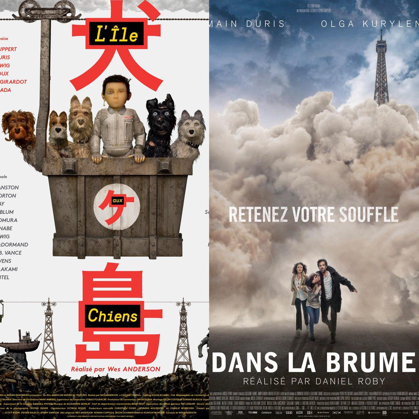 #07 L'ÎLE AUX CHIENS (Isle of Dogs) & DANS LA BRUME : Chiennes de Villes