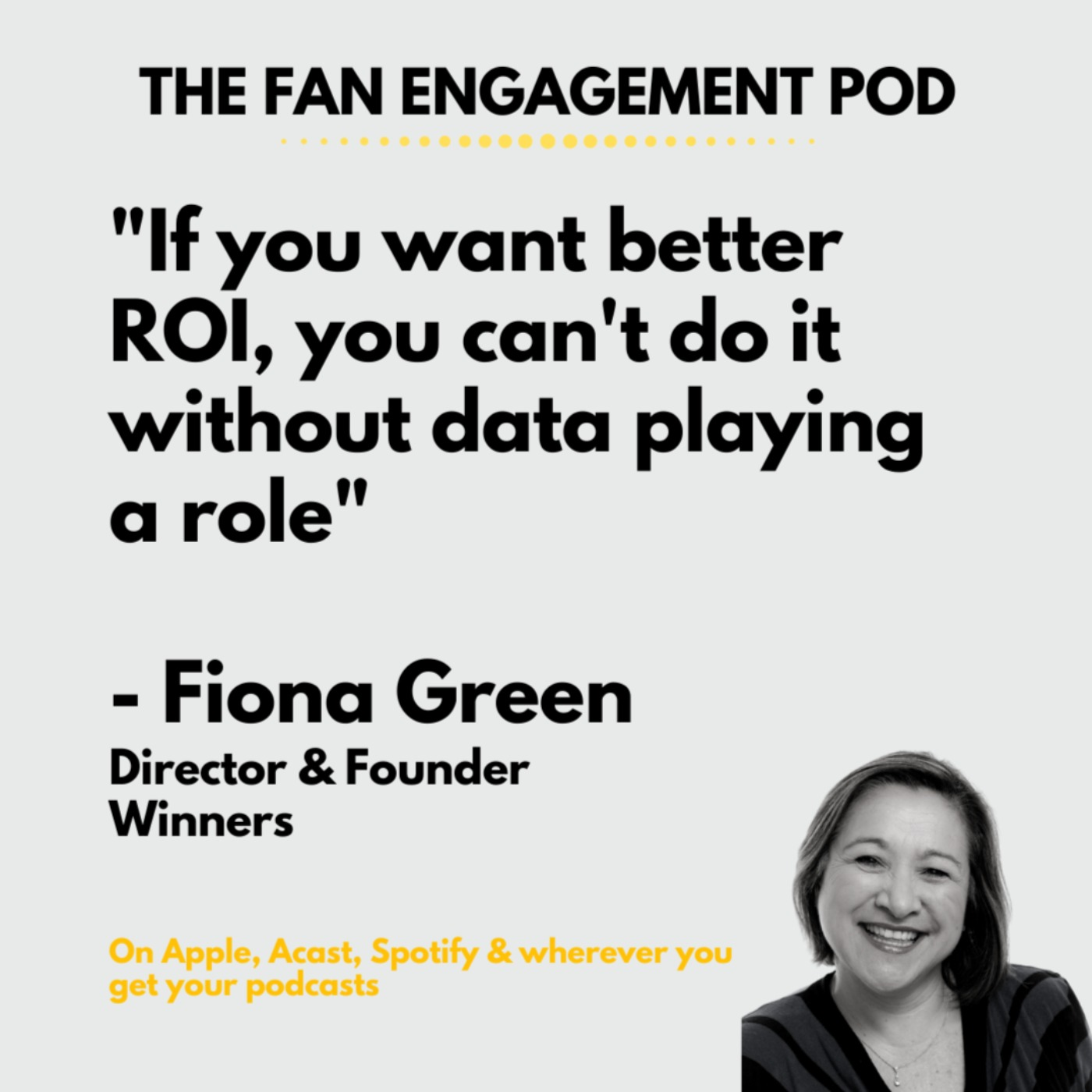 Data isn't just about numbers: Fiona Green from Winners