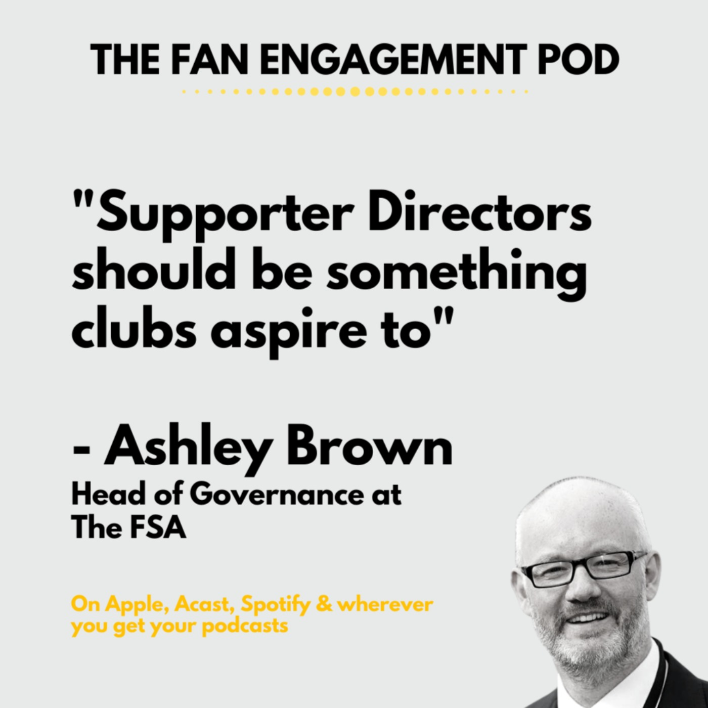 The FSA's Ashley Brown. What it's like on both sides of the fence
