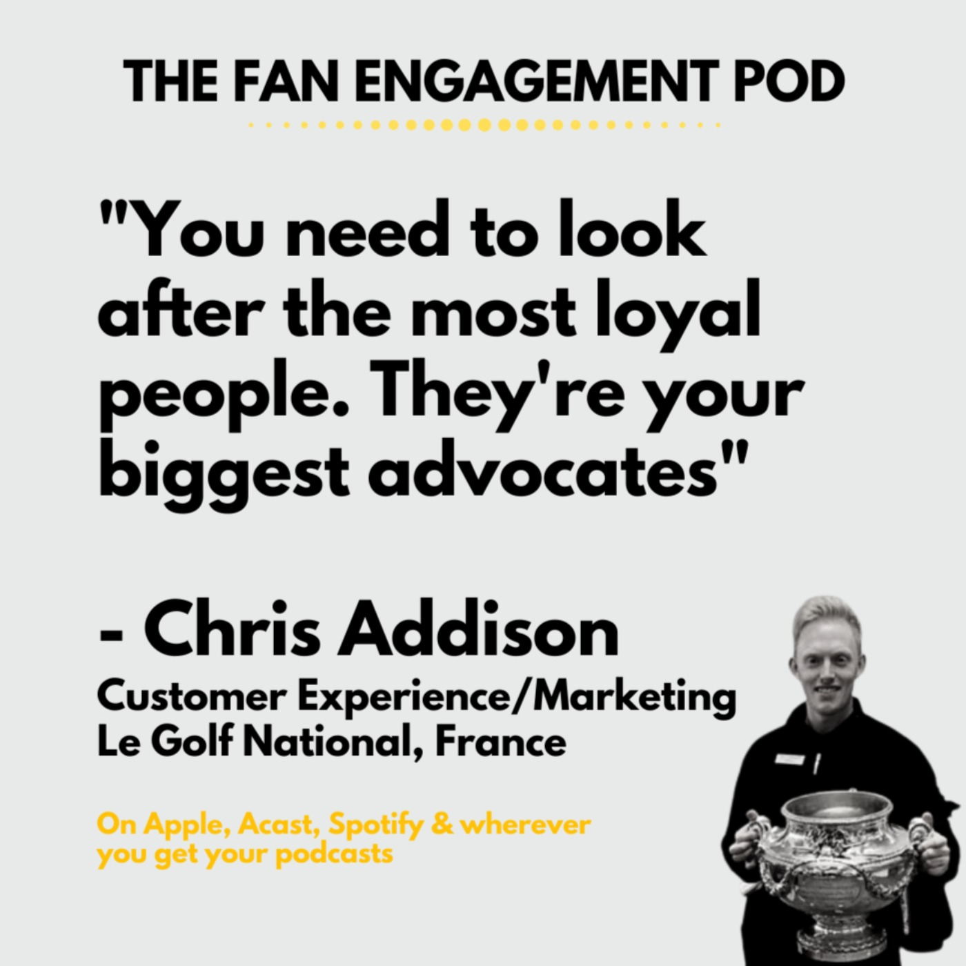 Le Golf National's Chris Addison - loyalty & other leisure pursuits
