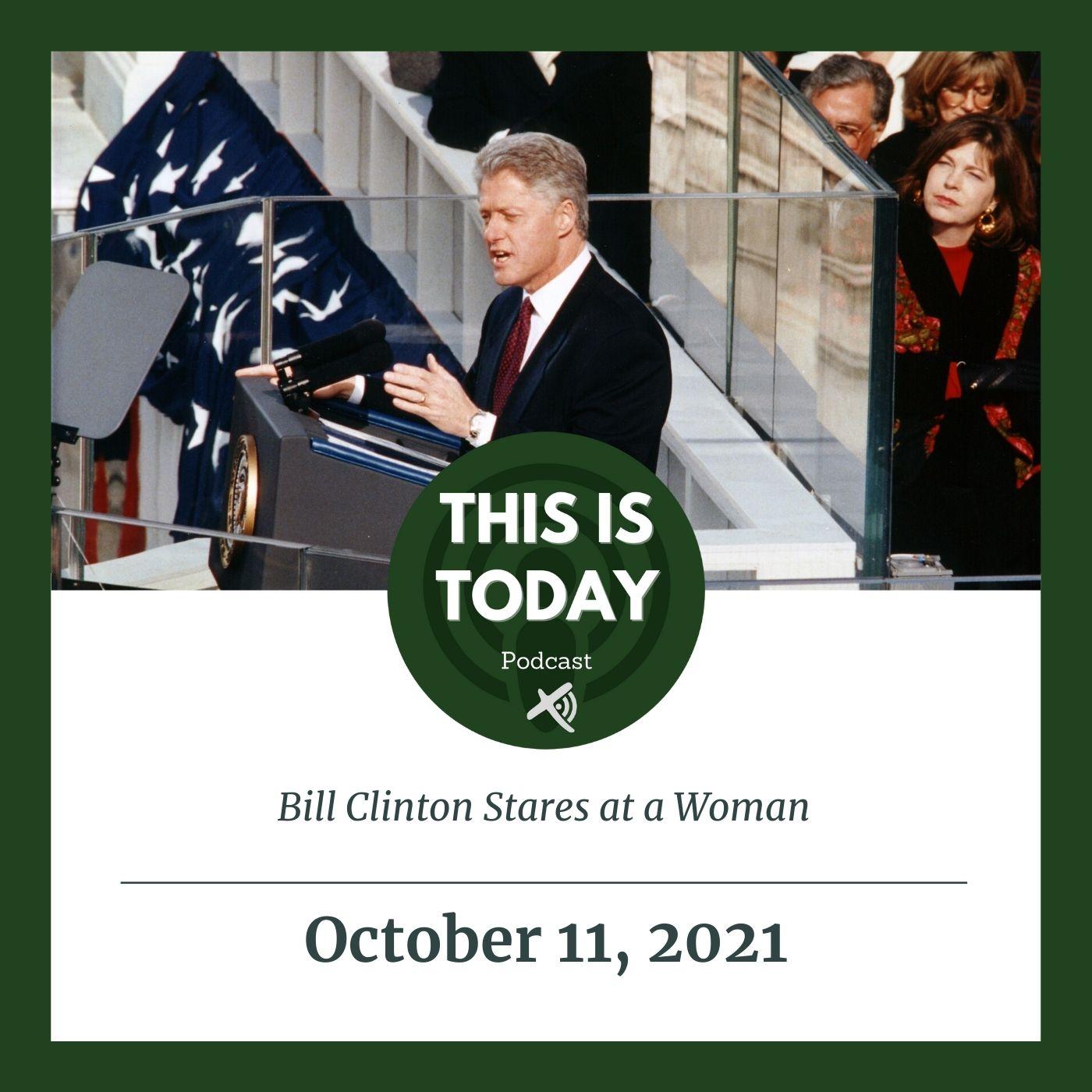 Bill Clinton Stares at a Woman