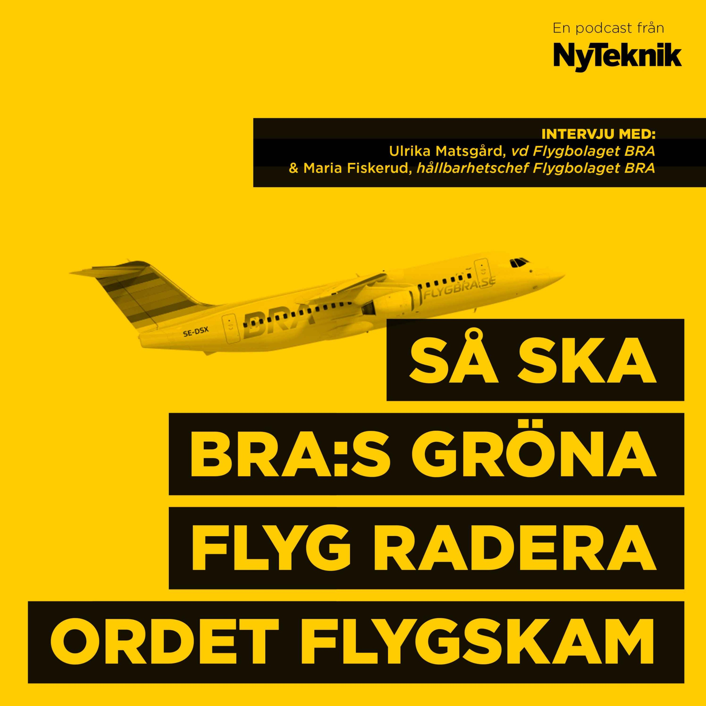 #66 - Ulrika Matsgård,vd Flygbolaget BRA och hållbarhetschefen Maria Fiskerud om framtiden för inrikesflyget, radering av ordet flygskam och konsten att locka fler att välja gröna flygningar.